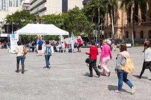 Free Blood Pressure checks being offered by Stroke Foundation in King George Square Brisbane.